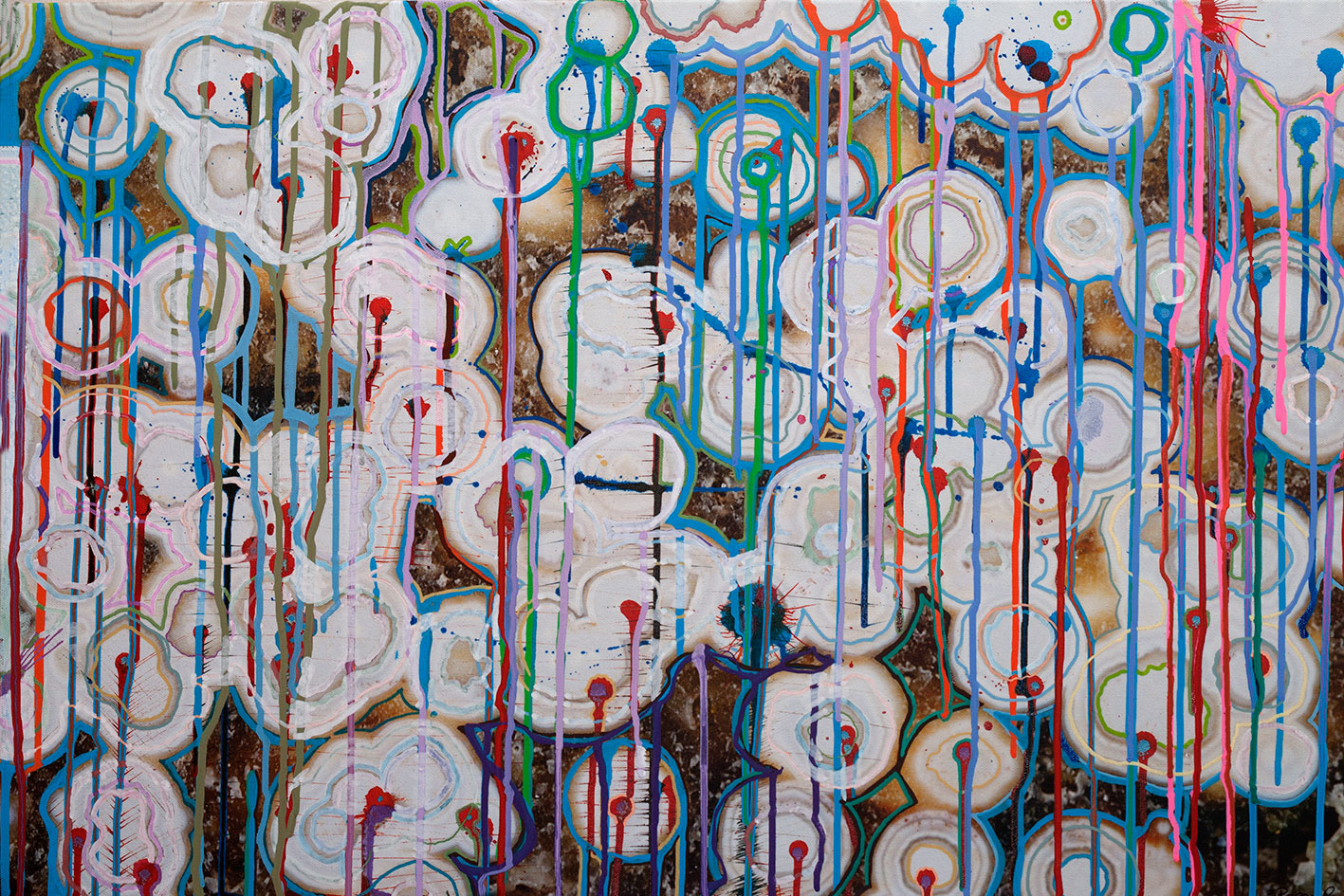 Hybrid Painting on Photograph by Roger Smith 2008
